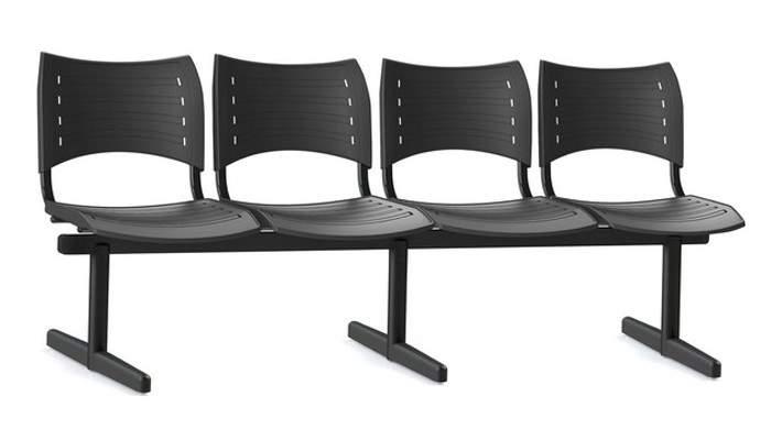 Cadeira Longarina Secretária de 4 Lugares ISO