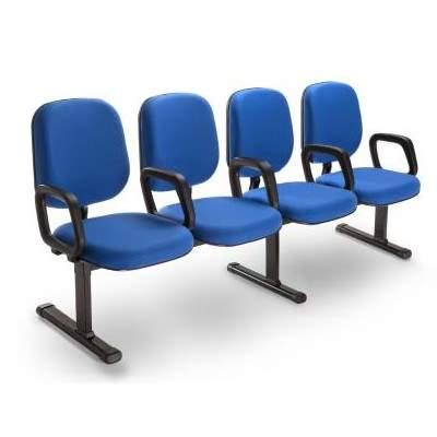 Cadeira Longarina Diretor de 4 Lugares Office