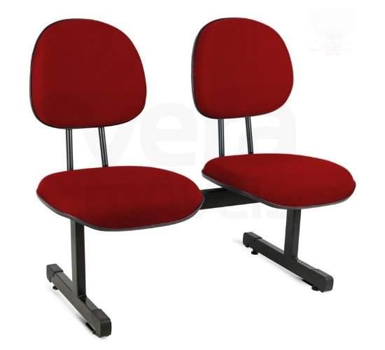 Cadeira Longarina Executiva de 2 Lugares Office