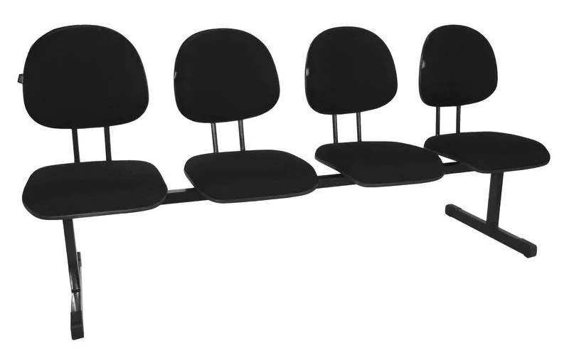 Cadeira Longarina Executiva 4 Lugares Office