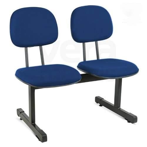 Cadeira Longarina Secretária Reta de 2 Lugares Office