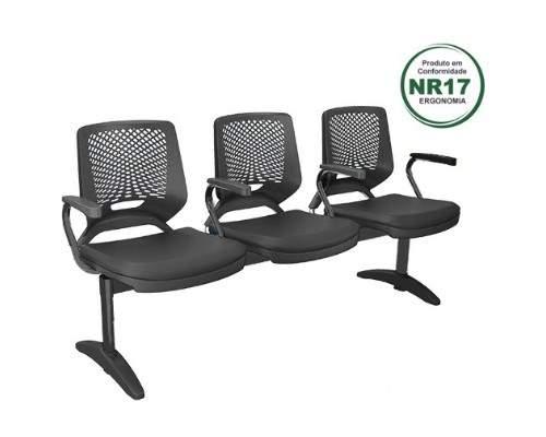 Cadeira Longarina de 03 Lugares – Bezzi