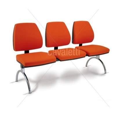 Cadeira Longarina de 03 Lugares – Cavaletti – Pró