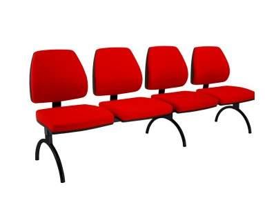 Cadeira Longarina Diretor de 4 Lugares CS3801005 Pró Cavaletti