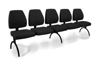 Cadeira Longarina Diretor de 5 Lugares CS3801007 Pró Cavaletti