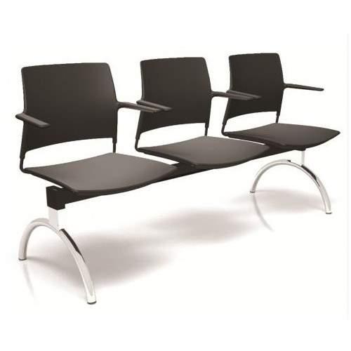 Cadeira Longarina Secretária de 3 Lugares CS3401002 GO Cavaletti