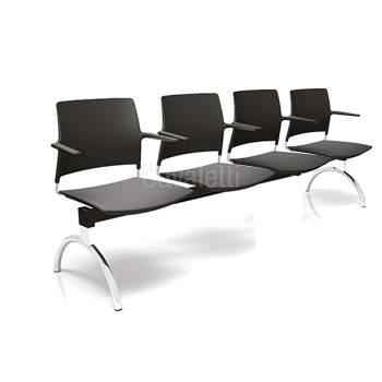 Cadeira Longarina Secretária de 4 Lugares CS3401039 GO Cavaletti