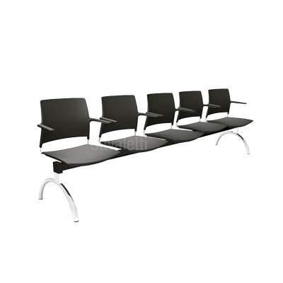 Cadeira Longarina Secretária de 5 Lugares CS3401040 GO Cavaletti