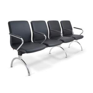 Cadeira Longarina Diretor de 4 Lugares CS1801019 Slim Cavaletti