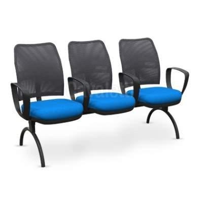 Cadeira Longarina Telada de 03 Lugares – Cavaletti – NW