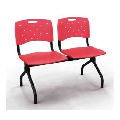 Cadeira Longarina Secretária de 2 Lugares CS3501001 Viva Cavaletti