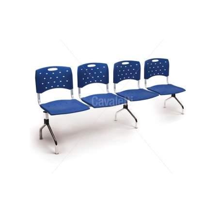 Cadeira Longarina Secretária de 4 Lugares CS3501005 Viva Cavaletti