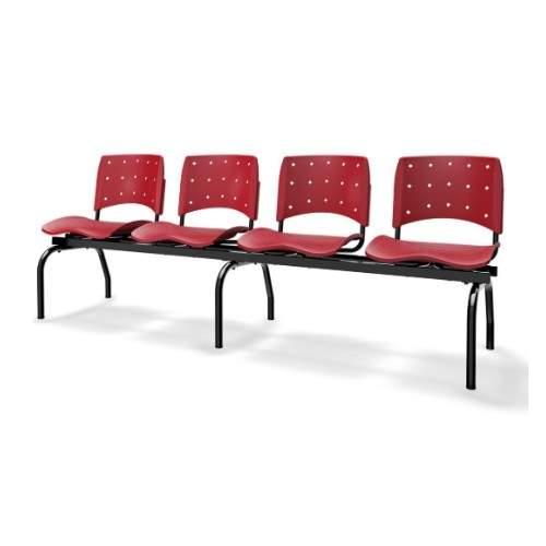Cadeira Longarina Secretária de 4 Lugares Ergoplax