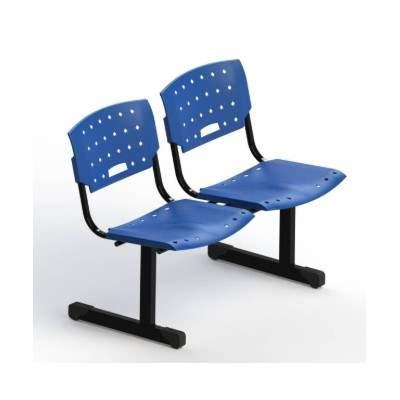 Cadeira Longarina Secretária de 2 Lugares MR