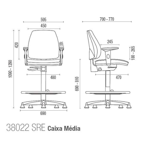 Cadeira Caixa Giratória Diretor C/B CG3802203 Pró Cavaletti