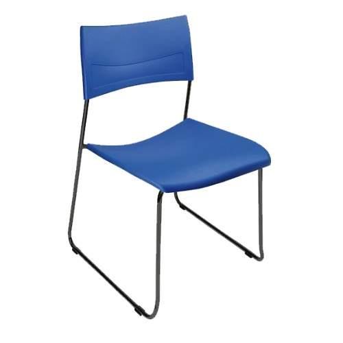 Cadeira Escritório Fixa Empilhável Nina