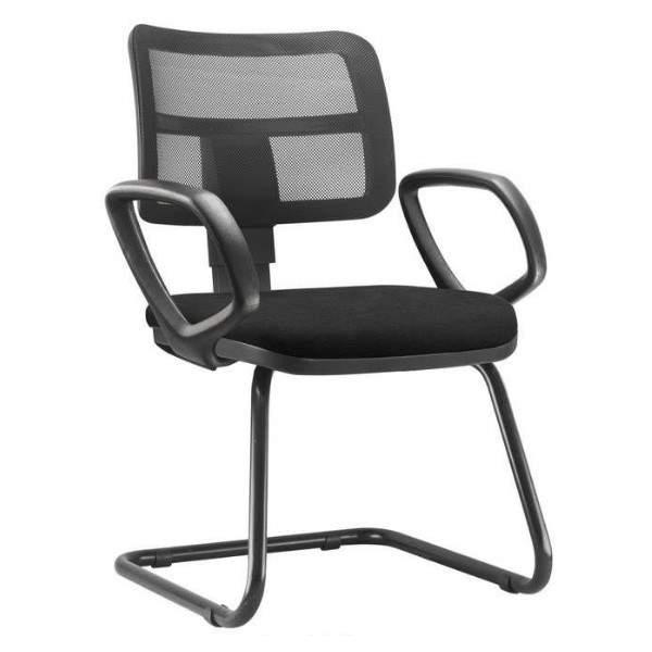 Cadeira Escritório Fixa Enc. Tela Continua Ziper