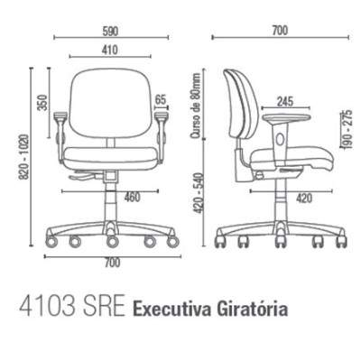 Cadeira Giratória Diretor C/B PG0300259 Start Plus Cavaletti