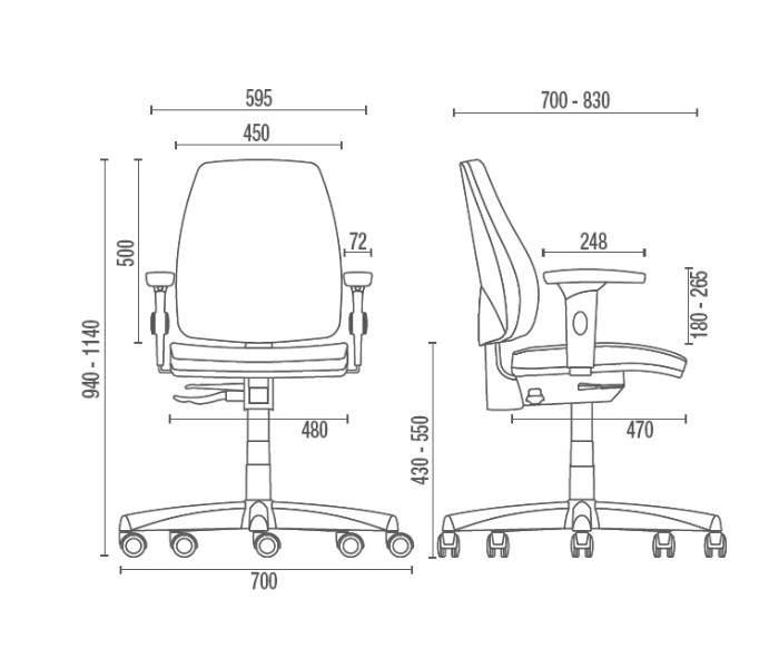 Cadeira Giratória Diretor C/B PG3800110 Pro Cavaletti