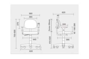 Cadeira Giratória Secretária C/B CG0300499 Start Plus Cavaletti