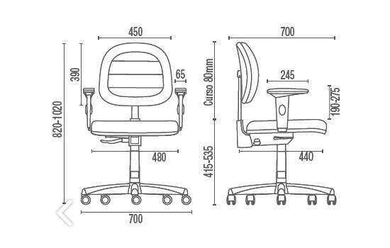 Cadeira Giratória Executiva C/B CG0610469 Start Plus Cavaletti