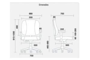 Poltrona Diretor Extra Giratória – 40033 – Starre