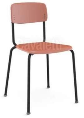 Cadeira Escritório Fixa Empilhável CF4100801 Joy Cavaletti