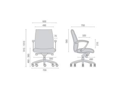 Cadeira Giratória Diretor C/B IMNE20202 Prime Cavaletti