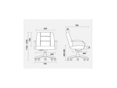 Cadeira Giratória Diretor Plus Size C/B PG2010301 140 kg Prime Cavaletti
