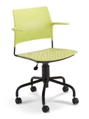 Cadeira Giratória Polipropileno C/B CG3400311 GO Cavaletti