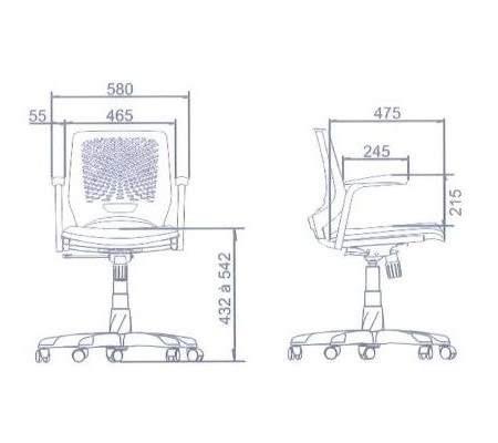 Cadeira Giratória Executiva Encosto Polipropileno C/B Beezi